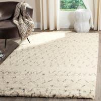 Safavieh Handmade Casablanca Ivory/ Grey Wool Rug - 5' x 8'