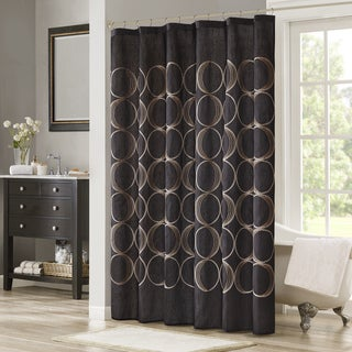 Madison Park Lenox Embroidered Shower Curtain