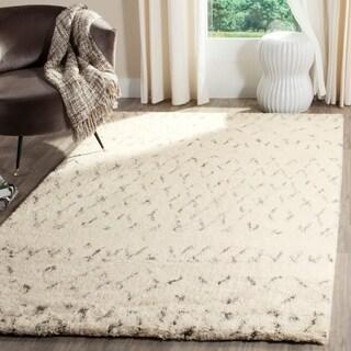 Safavieh Handmade Casablanca Ivory/ Grey Wool Rug (6' x 9')