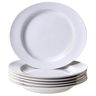 Certified International Ellipse Porcelain Dinner Plate 11.5'' x 10'' (Set of 6)
