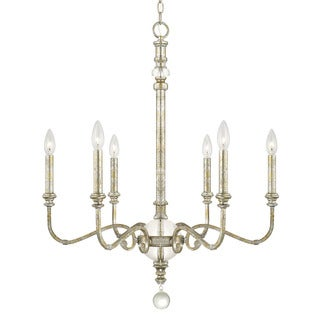 Capital Lighting Charleston Collection 6-light Silver and Gold Leaf Chandelier