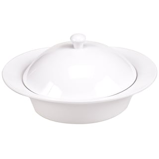 Certified International Ellipse Porcelain Round Baker with Lid 2 qt.