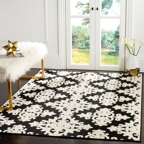 Safavieh Cottage Black/ Cream Rug - 8' x 11'2