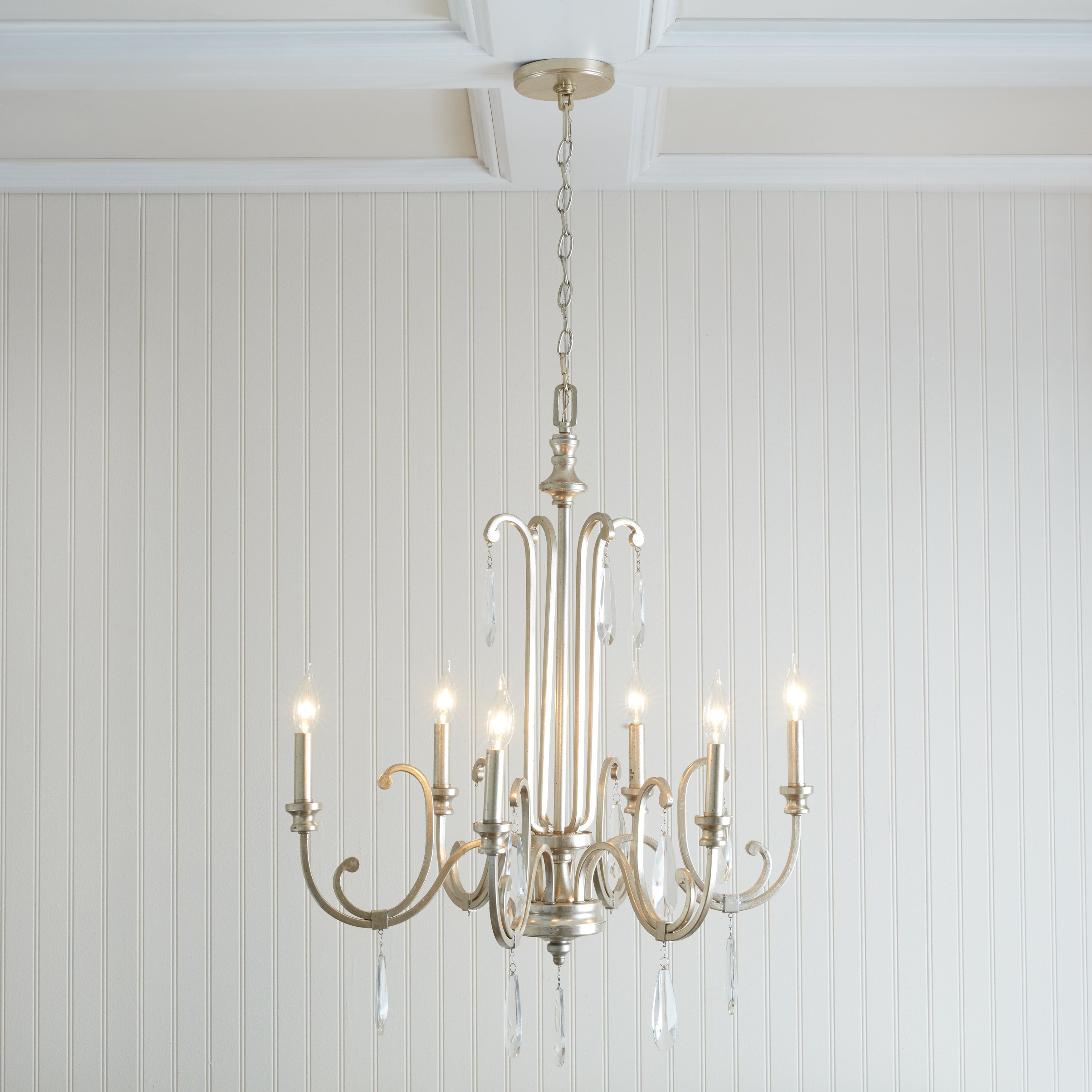 Capital Lighting Cambridge Collection 6 Light Winter Gold Chandelier