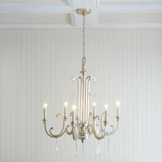 Capital Lighting Cambridge Collection 6-light Winter Gold Chandelier