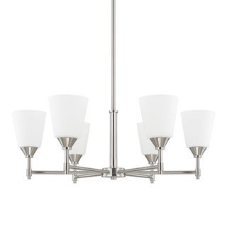 Capital Lighting Langley Collection 6-light Brushed Nickel Chandelier