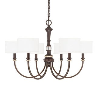 Capital Lighting Asher Collection 6-light Champagne Bronze Chandelier