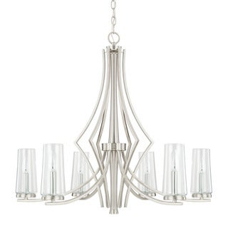 Capital Lighting Stella Collection 6-light Brushed Nickel Chandelier
