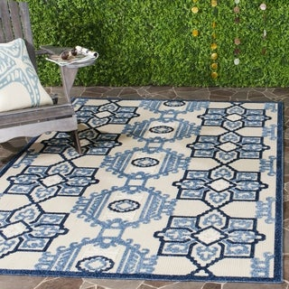 Safavieh Cottage Ivory/ Blue Rug (9' x 12')