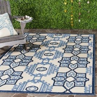Safavieh Cottage Ivory/ Blue Rug (9' x 12')