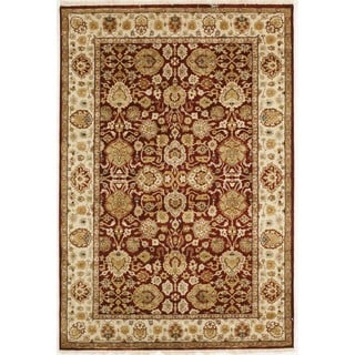 Handmade with Tabriz Design Area Rug  (4' x 5' 11)