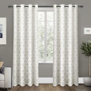 ATI Home Cartago Insulated Woven Blackout Window Curtain Panel Pair