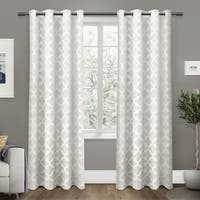 ATI Home Cartago Woven Blackout Curtain Panel Pair with Grommet Top