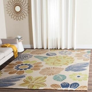 Safavieh Hand-Hooked Four Seasons Beige Floral Rug (8' x 10')