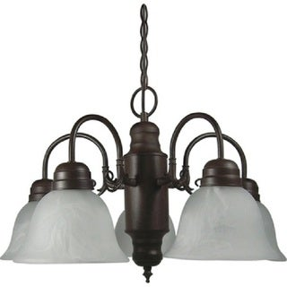Link to AA Warehousing Mike 5 Light Chandelier with Shade in Dark Brown Similar Items in Wood Wall Art