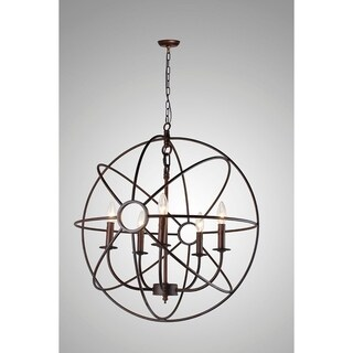 Y-Decor Infinity 5 Light Mini Chandelier in Rustic Finish