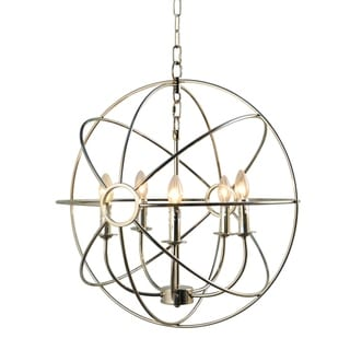 Y-Decor Infinity 5 Light Mini Chandelier in Nickel Plated - nickel plated