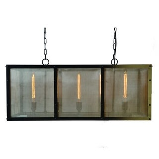 Contempo Antique Black Finish 5-light Chandelier Light Fixture with Gold Accents