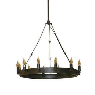 Verdun 12-light Oil Rubbed Bronze Utilitarian Round Chandelier