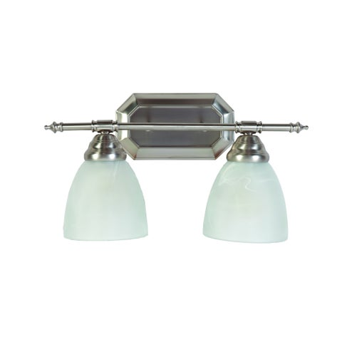 Y-Decor 'Jeffrey' 2-light Brushed Nickel Finish Bathroom Vanity Light
