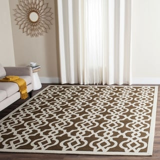 Safavieh Hand-hooked Indoor/ Outdoor Four Seasons Mocha/ Ivory Rug (9' x 12')