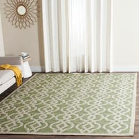 Safavieh Hand-Hooked Four Seasons Seafoam/ Ivory Polyester Rug - 9' x 12'