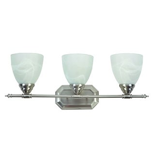 Y-Decor Jeffrey Brush Nickel 3-light Vanity Lighting