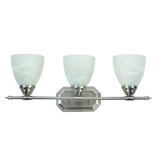 Y-Decor Jeffrey 3-light Vanity light in Brush Nickel finish
