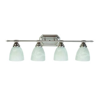 Y-Decor Jeffrey Brush Nickel 4-light Vanity Lighting