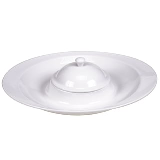 Certified International Ellipse Porcelain 2 pc. Chip & Dip Tray