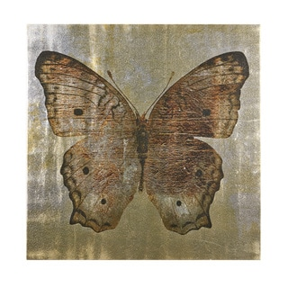 INK+IVY Gilded Butterfly I Natural Printed Silver Metallic Canvas