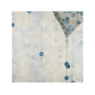 INK+IVY Fly the Sky White Gel Coat Printed Canvas
