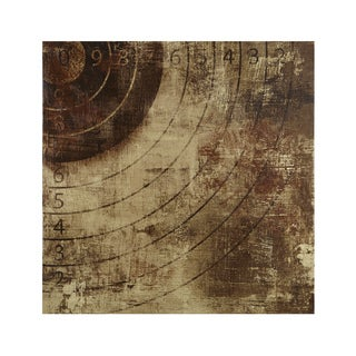 INK+IVY Bullseye Brown Gel Coat Printed Canvas