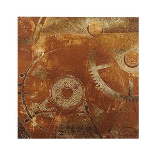 INK+IVY In Gear II Bronze Gel Coat Printed Canvas