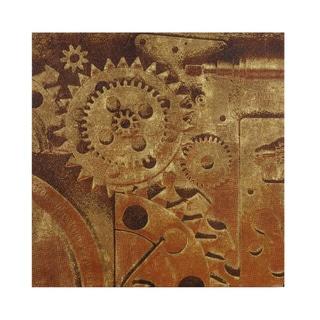 INK+IVY In Gear I Bronze Gel Coat Printed Canvas