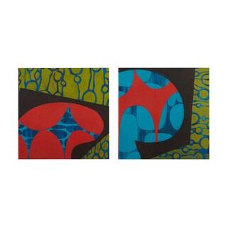 INK+IVY Modern Pop Multi Gel Coat Printed Canvas