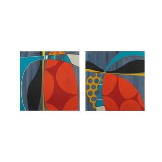 INK+IVY Contempo Pop Multi Gel Coat Printed Canvas