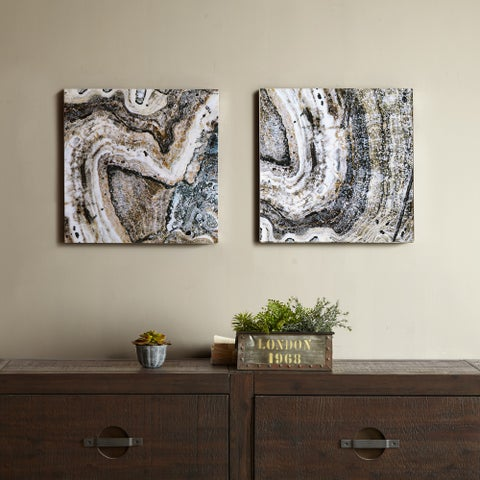 INK+IVY Cool Stone Glass Coat 2-Piece Set