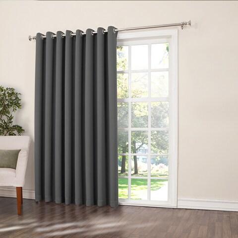 Laurel Creek Brock Rod Pocket Room Darkening Patio Door Single Curtain Panel