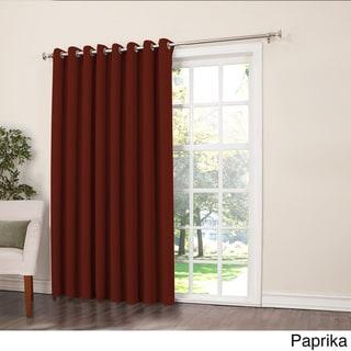 Sun Zero Galia Rod Pocket Room Darkening Patio Door Single Curtain Panel