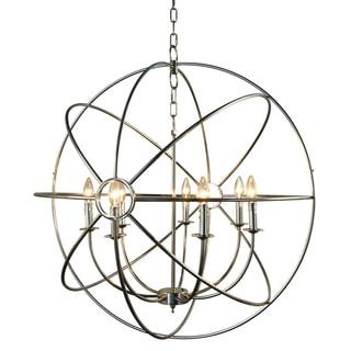 Y-Decor Infinity Orb 7-Light Nickel Plated Finish Orb Chandelier