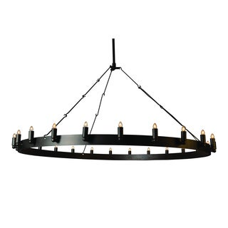 Y-Decor Verdun 24 Light Chandelier in Raw Iron Grey - raw iron grey