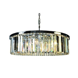 Sundance Chandelier Satin Nickel Iron and Silver Finish 8-light Chandelier with Glimmers