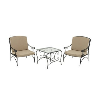 Metal 3 Piece Outdoor Patio Chair Set