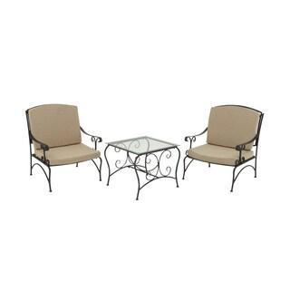 Metal 3 Piece Outdoor Patio Chair Set