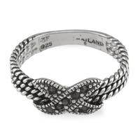 Sterling Silver Pave Rope Ring