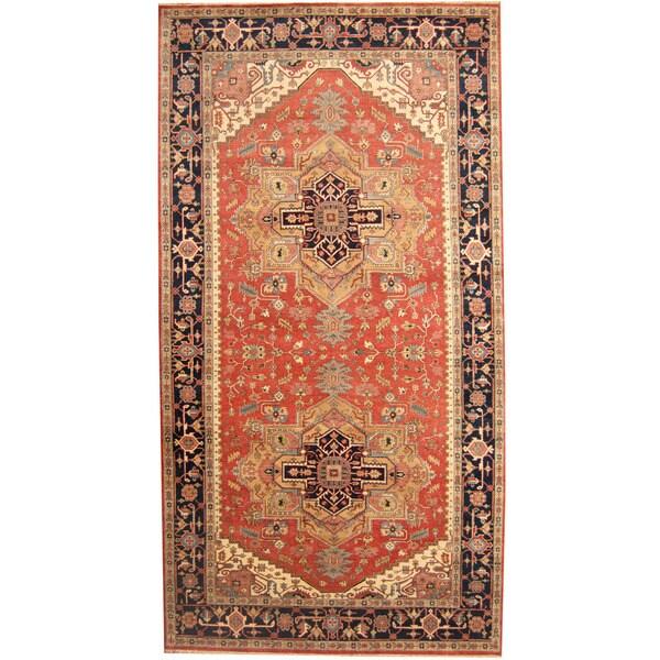 Handmade One-of-a-Kind Serapi Wool Runner (India) - 8' x 15'2