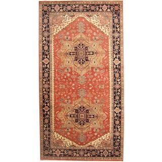 Herat Oriental Indo Hand-knotted Serapi Wool Runner (8' x 15'2)