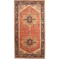 Herat Oriental Indo Hand-knotted Serapi Wool Runner (8' x 15'2) - 8' x 15'2