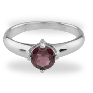 Sterling Silver 1ct Rhodolite Solitaire